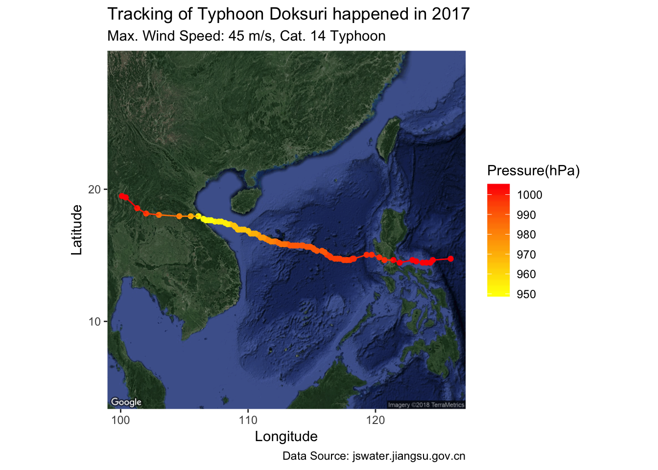 Generate animated tracking maps for hurricanes and typhoons ...